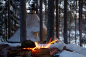 Aurora Safari camp in Swedish Lapland