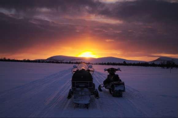 Snowmobile trek, Sweden