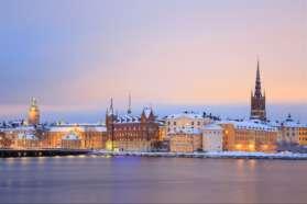Wintry Stockholm, Sweden