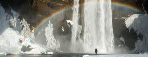 Majestic Skogafoss waterfall in Iceland