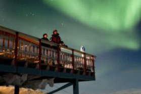 Look out platform at Aurora Sky Station in Abisko