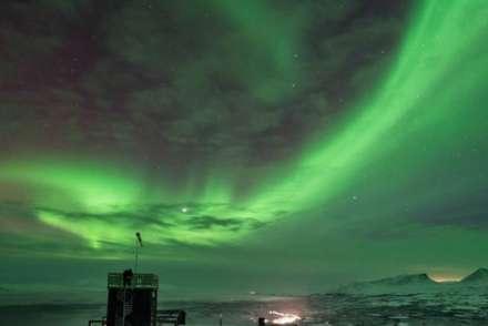 Aurora sky station abisko beneath northern lights