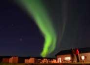 Northern lights over Smaratun Farm, Iceland