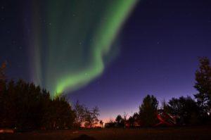 Northern Lights above Smaratun farm, Iceland