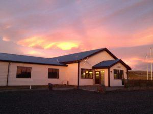 Sunset over Smaratun Farm in Iceland