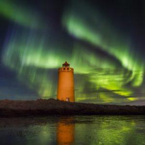 Icelandic Northern Lights display on SuperJeep hunt in Iceland