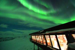 The aurora Sky Station Dinner Abisko