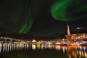 Scandic-Ishavshotel with aurora