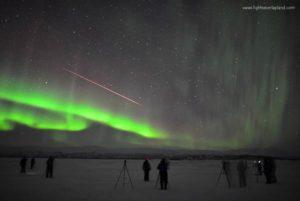 Northern Lights and comet Abisko Sweden
