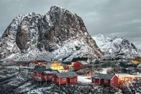 Red houses, Lofoten Islands, Norway
