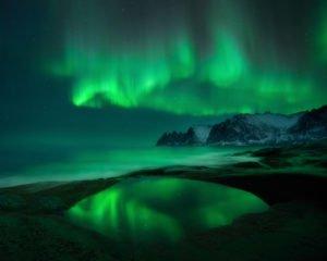 Aurora-Borealis-at-Okseneset- Copyright -Arild-Heitmann