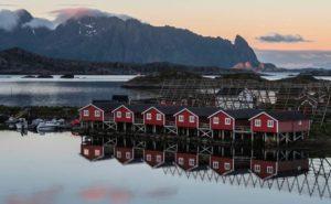 Rorbuer svinoya Svolvaer Lofoten Norway