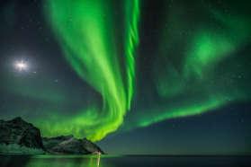 Northern Lights over Mejford Senja