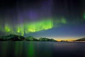 Northern Lights from Hurtigruten ship Norway