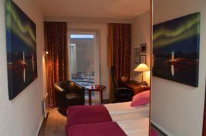 Bedroom in Melbu Hotel