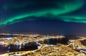 Northern lights over Tromso