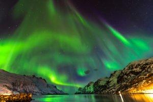 Northern lights over Lofoten Norway