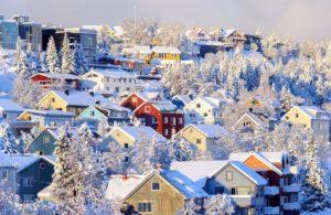 Snow over Tromso