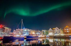 Tromso harbour in Norway