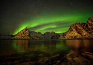 Northern Lights over Norway Coast