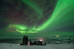 Northern Lights over the Aurora Sky Station Abisko Sweden