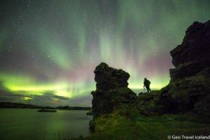 Stunning Northern Lights in North Iceland