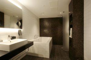 En Suite bathroom a the Clarion Sense Hotel Lulea
