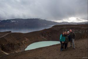 Stunning Viti Crater at Aska Volcano in N Iceland