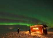 Dinner on ice Lulea Archipelago