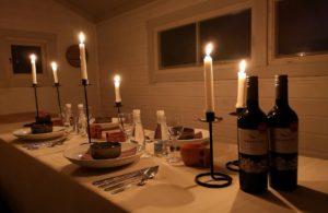 Inside the wilderness restaurant Lulea Archipelago