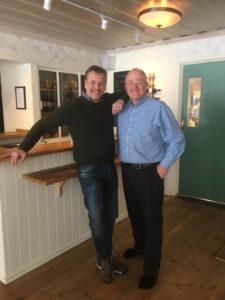 Kevin Collins and Goran Widen at Pine Bay Lodge Lulea Archipelago