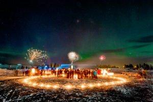 ice hotel new year celebration