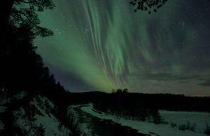 Northern lights at Rane River Sweden