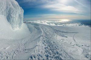 On Eyjafjallajokull Volcano in Iceland