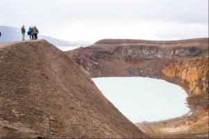 Overlooking Viti Crater in Askja Caldera in North Iceland