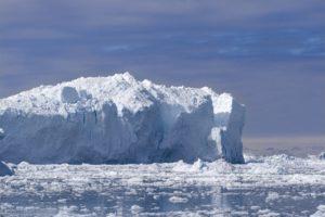 Icebergs in Disko Bay in Greenland