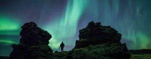 Northern Lights over Dimmuborgir