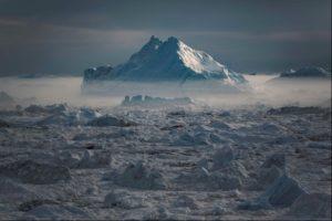 Serermiut Icebergs in Ilulissat in Greenland