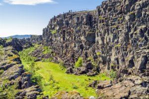 Thingvellir mini rift valley in Iceland