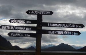 Finger post in Iceland