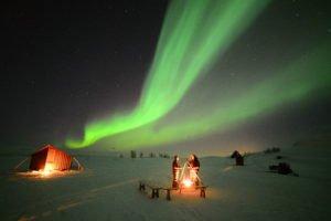 Arc Northern Lights above Aurora Village
