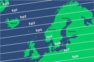 KP index for Northern Lights
