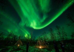 Kiruna full sky auroras