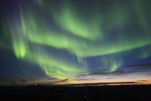 Beautiful Northern Lights in Kiruna