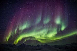 Iceland coloured Northern Lights
