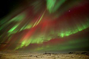 Northern Lights over Highland Centre, Iceland