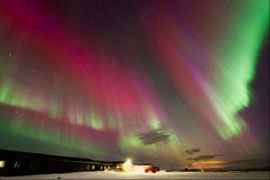 Coloured auroras, Iceland
