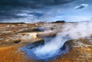 Mud pools in Iceland