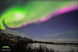Coloured Northern Lights in Sweden