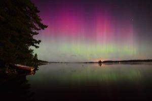 Serene coloured Lights in Sweden